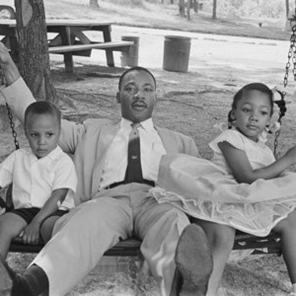 mlk-and-kids-on-swing