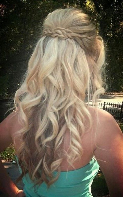 Cute Hairstyles For Curly Hair 2015 Prom Hairstyles – Half Up Half Down Prom Hairstyles