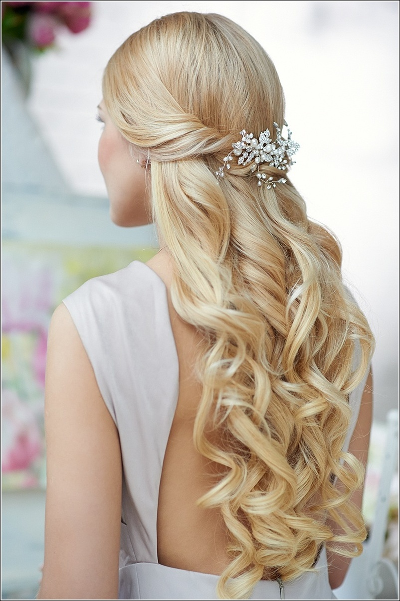 Curly Half Up Half Down Prom Hairstyles Back View Half up half down ...