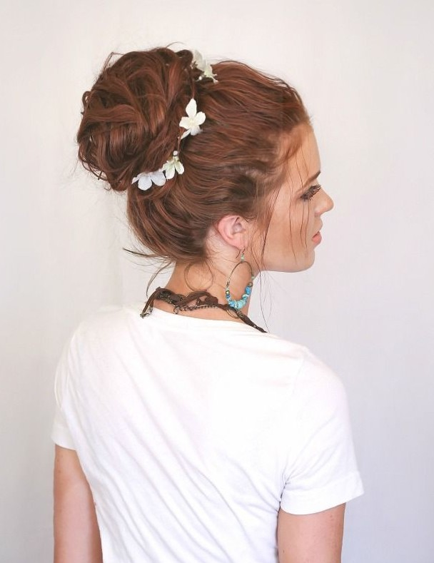 Feminine Rich Romantic Copper-Red Waves with Braid forecast