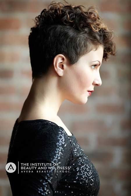 Trendy Pixie Haircut for Curly Hair - Short Haircuts 2015