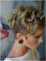 Short Hair Shaved Sides Curly Hairstyles