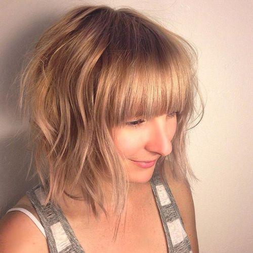 Cute short bob haircuts with bangs : Totally chic short bob haircuts hairstyles with bangs