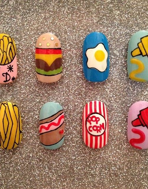 Interesting Food Nail Design