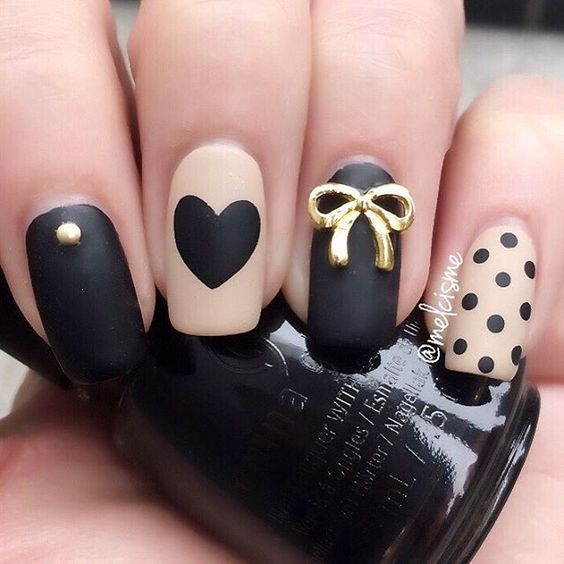 16 Adorable Bow Nail Designs