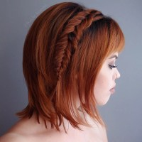 25 Cute Short Hairstyle with Braids  Braided Short ...