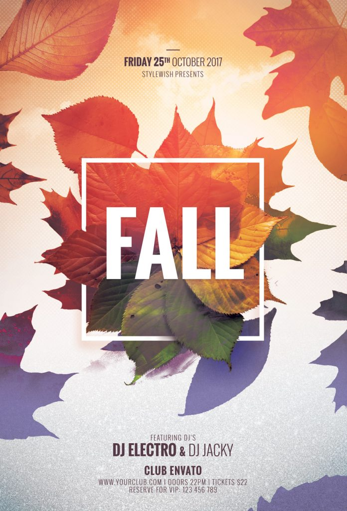 Autumn  Fall Flyer Templates for Photoshop \u2022 Stylewish