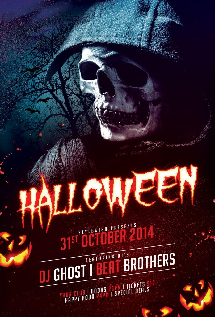Halloween Flyer Templates for Photoshop \u2022 Stylewish