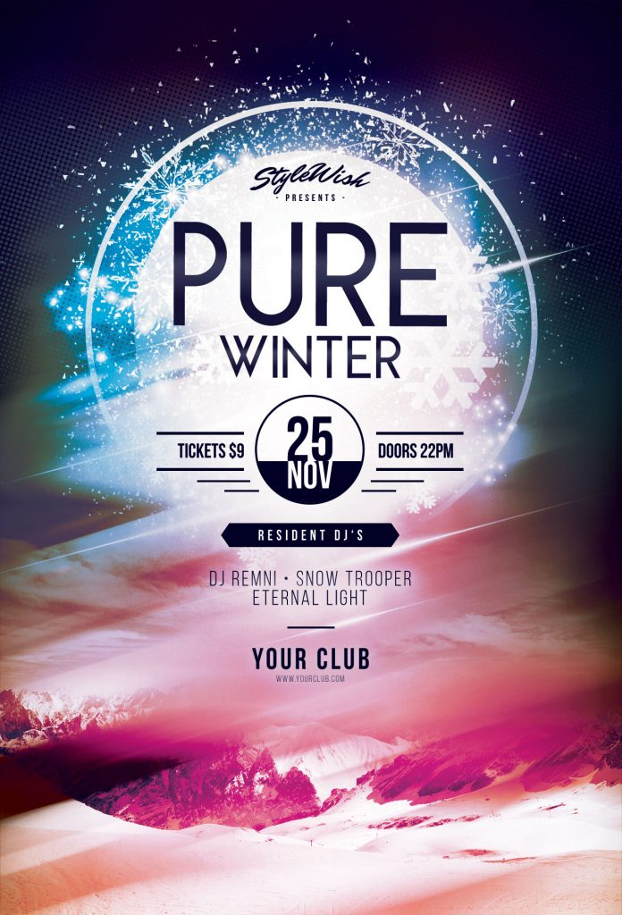 Winter Flyer Templates for Photoshop \u2022 Stylewish