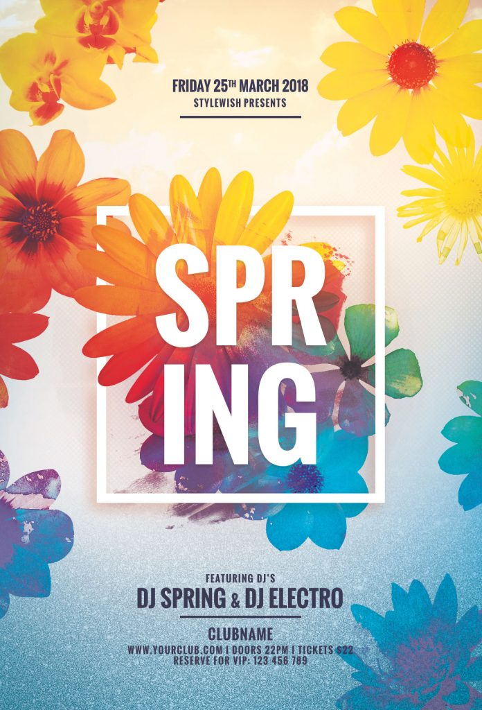 Spring Poster Templates for Photoshop \u2022 Stylewish