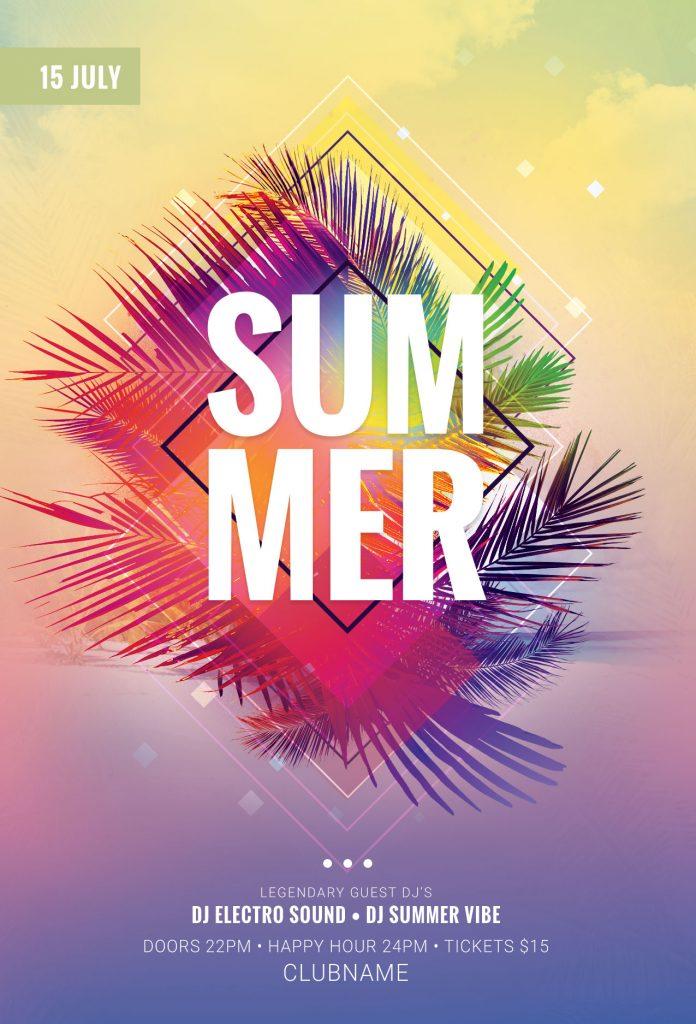 The best Summer Flyer Templates in PSD \u2022 Stylewish