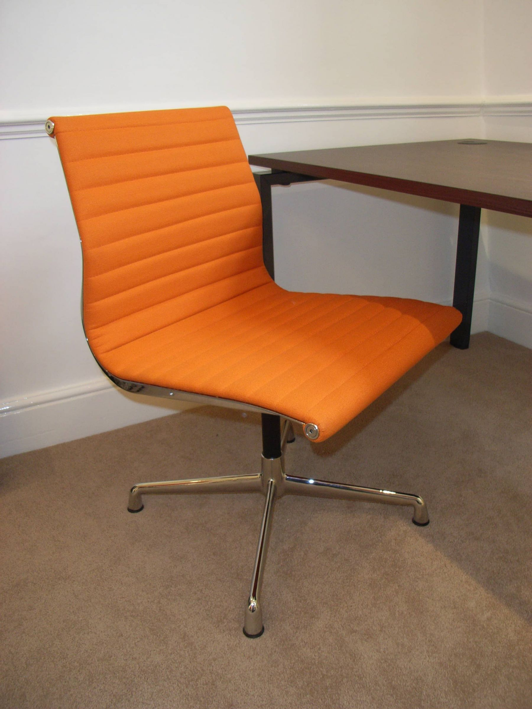 Orange Leather Chair Furniture Style Within