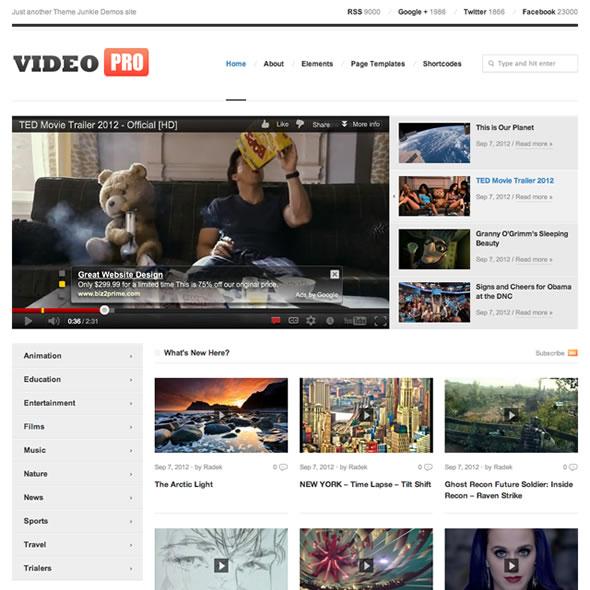 Best Video WordPress Themes 2018 - Best Premium WordPress Themes of
