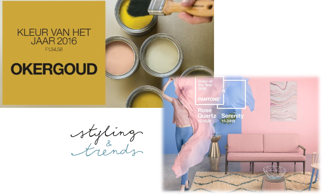 Flexa Okergoud Trendkleuren 2016 Styling Trends