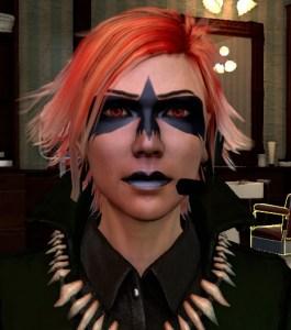 Corbie stare makeup