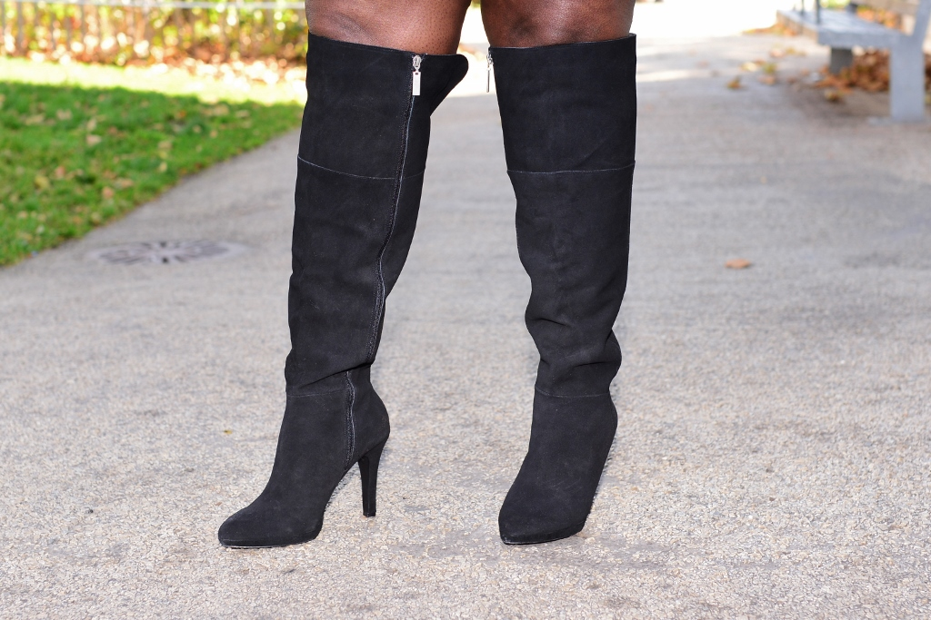 Style Journey Over The Knee Boots And A Mini Skirt
