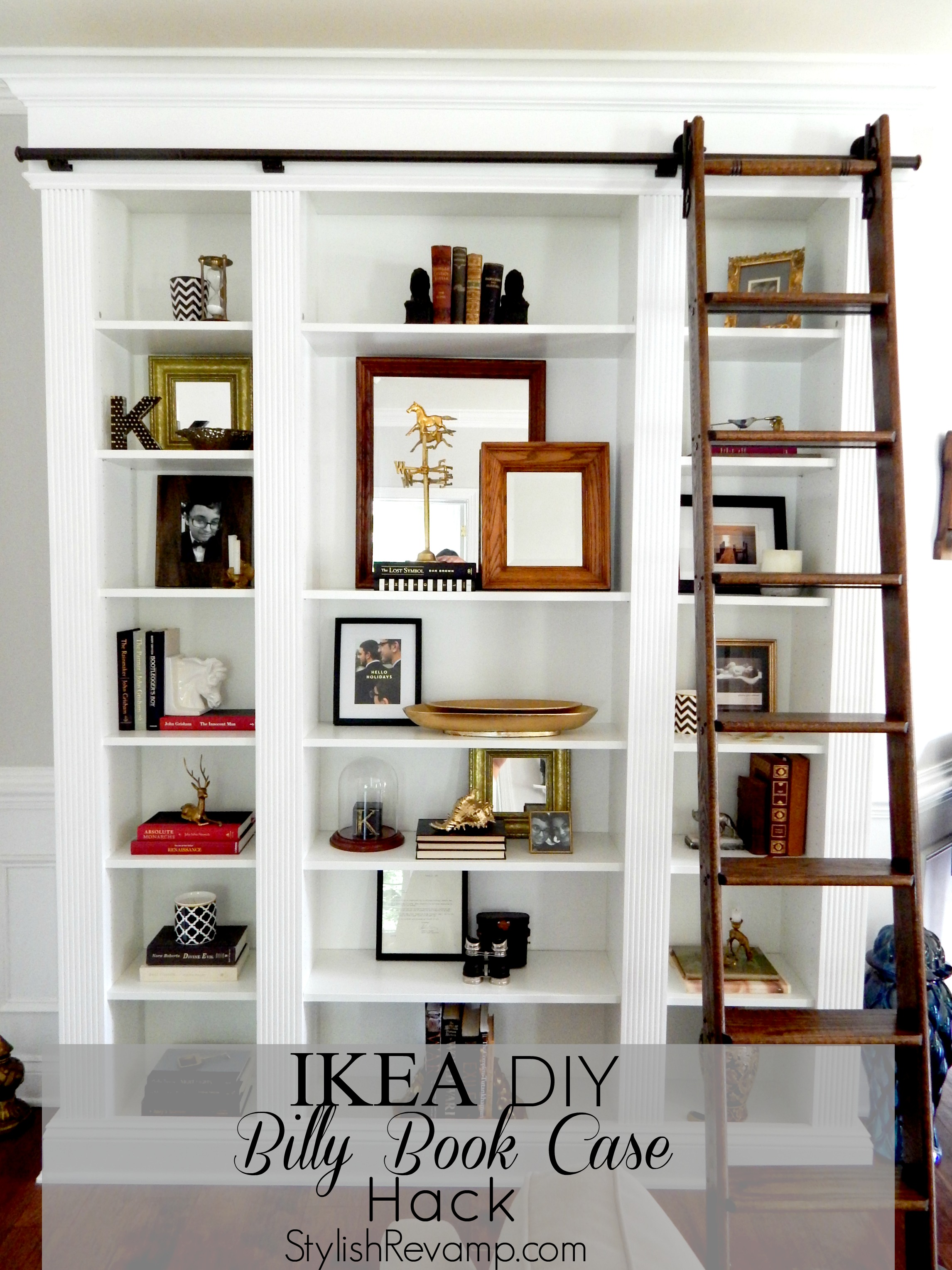 Ikea Billy Hack Designing With The Ikea Book Case Stylish Revamp