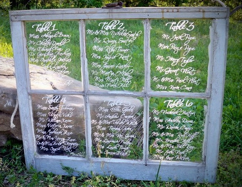 DIY- Vintage Windowpane Seating Chart wedding + style inspirations