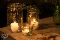 DIY :: Herb Mason Jar Candle Holders - Stylish Spoon