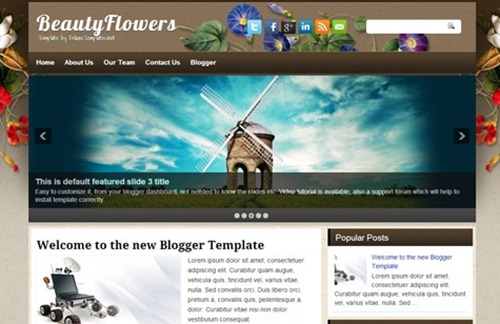 100 Best Free Blogger Templates For Professional Blogging