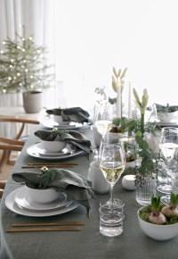 Green Christmas table setting   Stylizimo