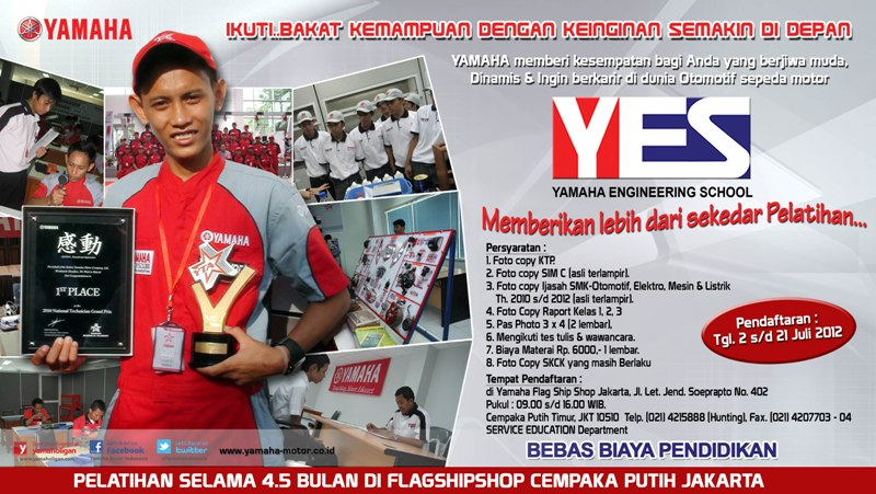 Yamaha Engineering School (YES) Angkatan 36 - SuaraJakarta.com