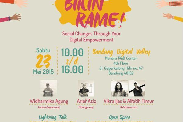 """""""Bikin Rame"""" Acara Kreatif Ajak Pemuda Buat Perubahan via Wadah Digital"""