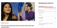 Aktivis Minta Nobel Perdamaian Suu Kyi Dicabut Karena Sentiment Terhadap Muslim