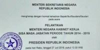Ini Nama Menteri Baru yang Akan Dilantik Jokowi Siang Ini. Resmi!