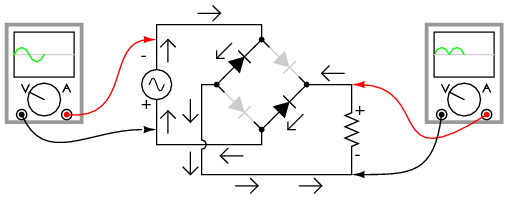 electron flow in circuit