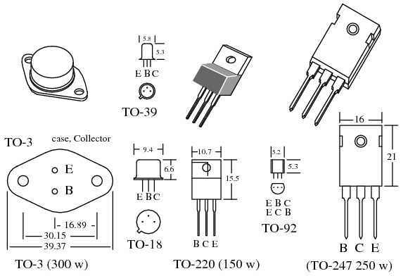 power transistors in 22152 mm package