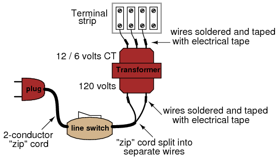For Home Stereo Wiring Schematic Transformer Power Supply Ac Circuits Electronics Textbook