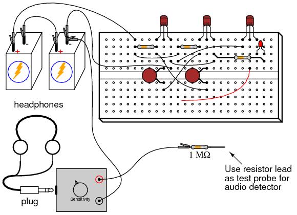 simple schematic diagram with resistors capacitors and transistors