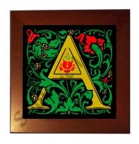 WM002 - William Morris Letter Tiles - Reproduction Ceramic ...