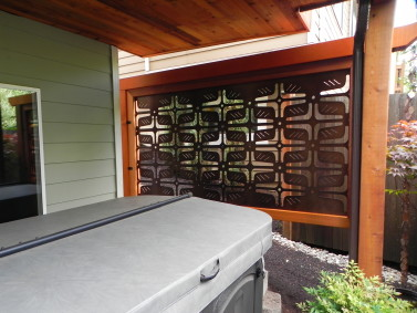 Woodinville Privacy Screen Sublime Garden Design
