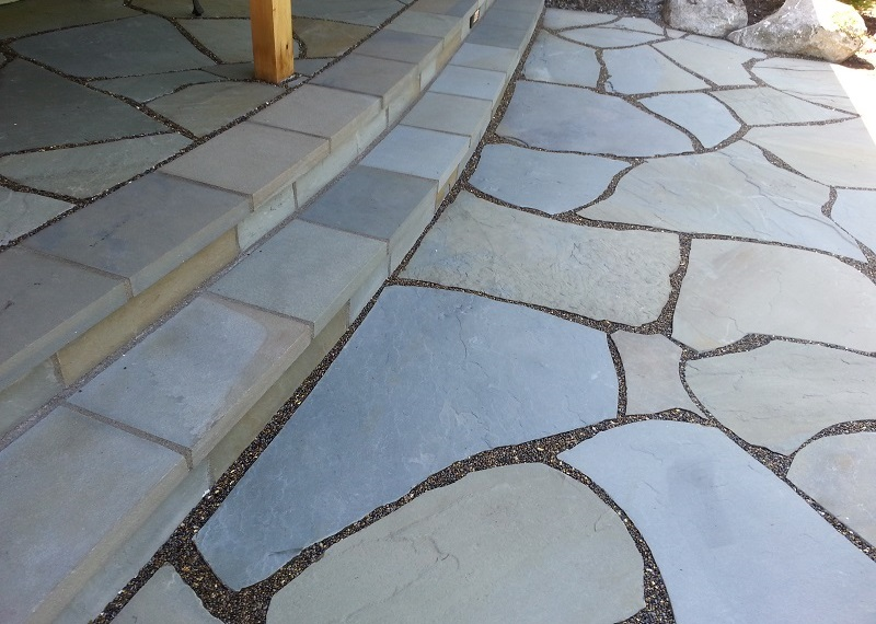 Bothell Natural Bluestone Flagstone Patio And Steps With
