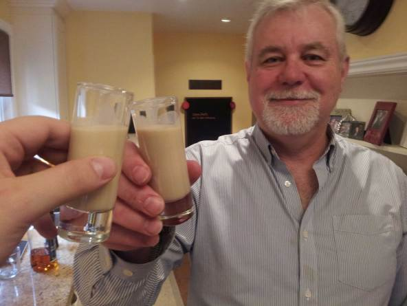 Cheers with some Irish Cream