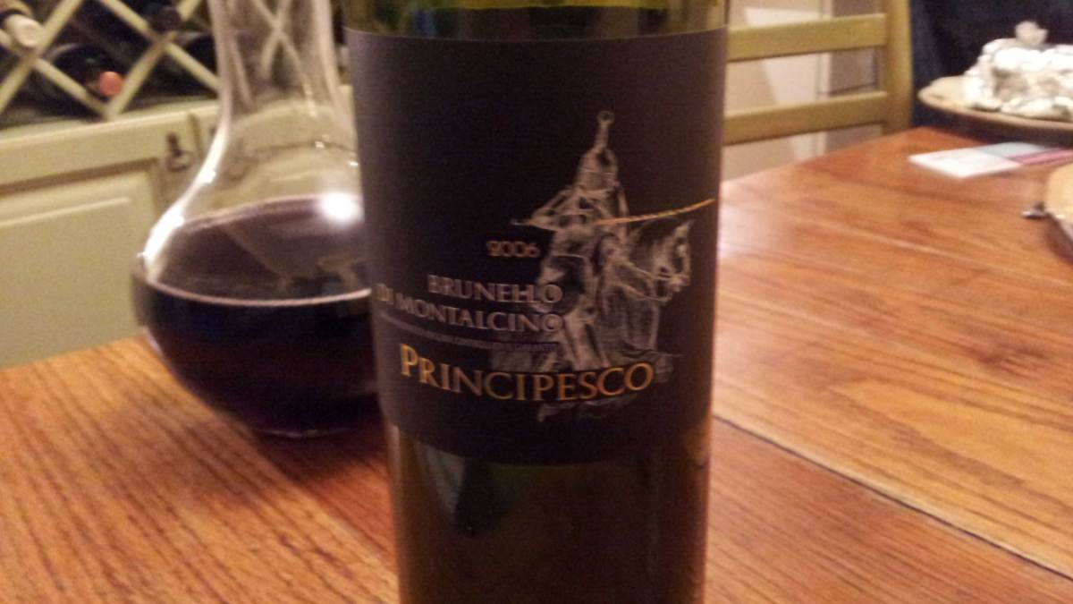 The Importance of Aeration: 2006 Brunello Di Montalcino Principesco