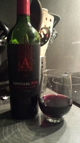 Apothic red made for a poor pairing.