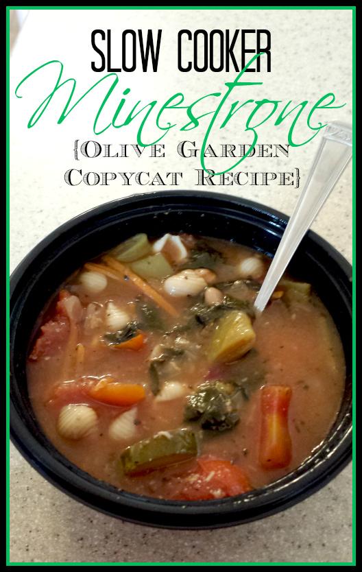 Slow cooker minestrone olive garden copycat recipe Olive garden minestrone soup ingredients