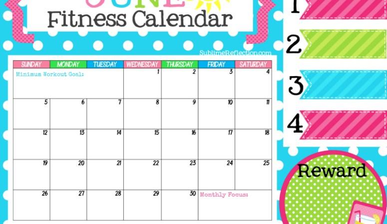 June Fitness Calendar