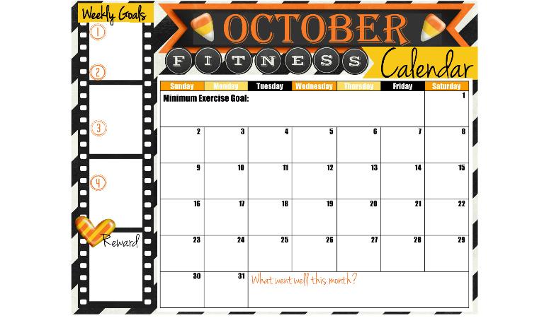 October Fitness Calendar