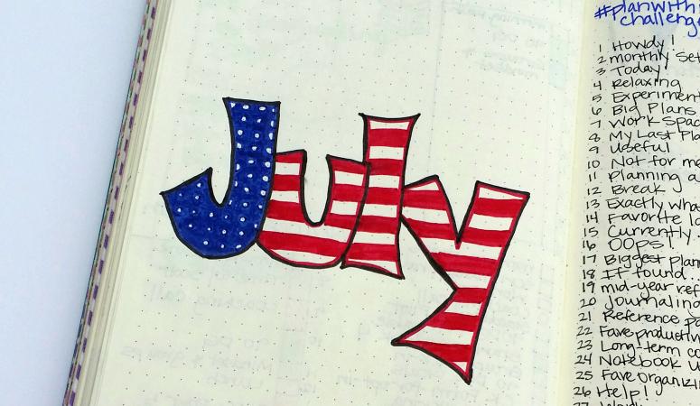 Plan with me:  July Bullet Journal Setup