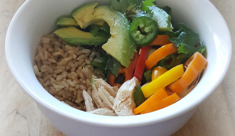 Thai Chicken & Vegetable Rice Bowls