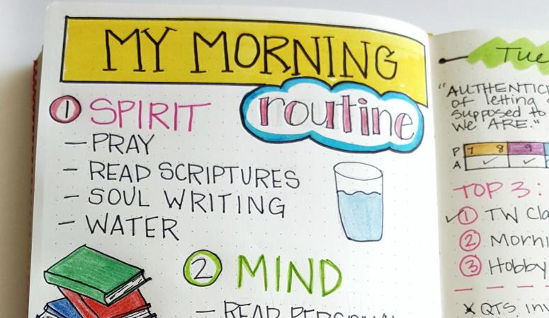 A peek inside my morning routine