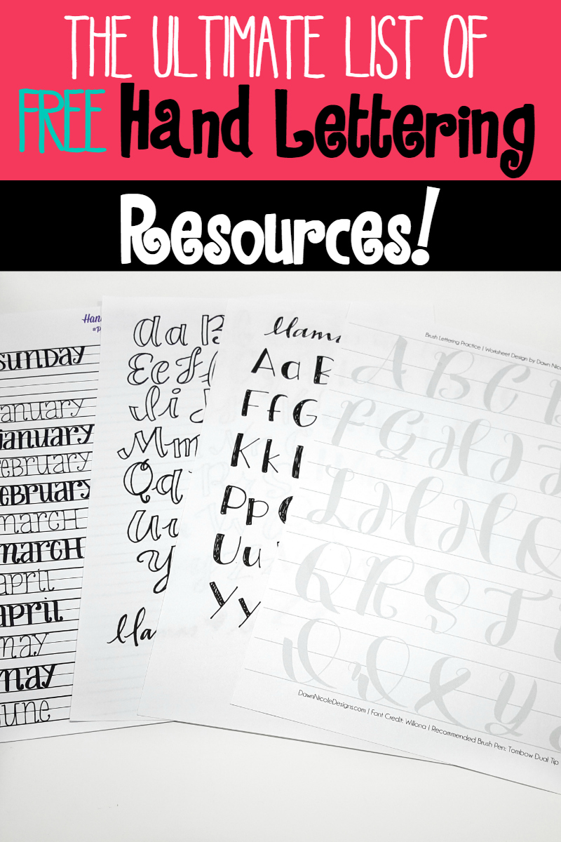 Calligraphy Fonts Books Pdf The Ultimate List Of Free Hand Lettering Resources Sublime