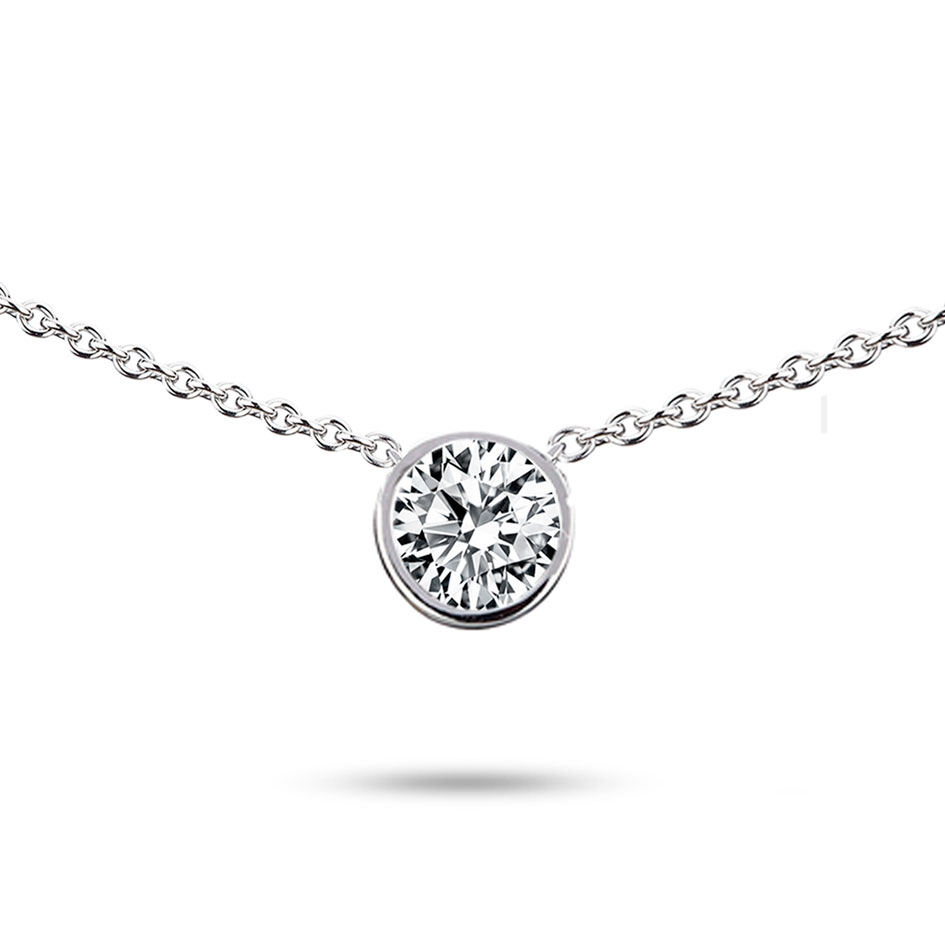 Prix Pas Cher Diamant Collier Diamant 15 Ct Or Blanc 3 3g Debora
