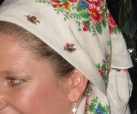 Exchanging the veil for a babushka scarf
