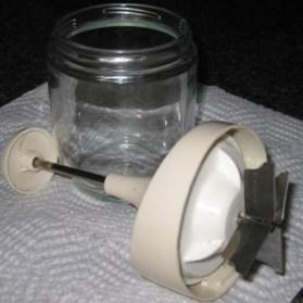 Onion Chopper- manual 4 blade - open view