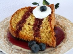 One Step Sponge Cake - serving piece